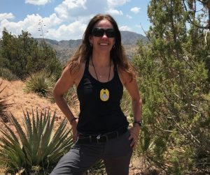 Helen Poulos on a research trip in Arizona.